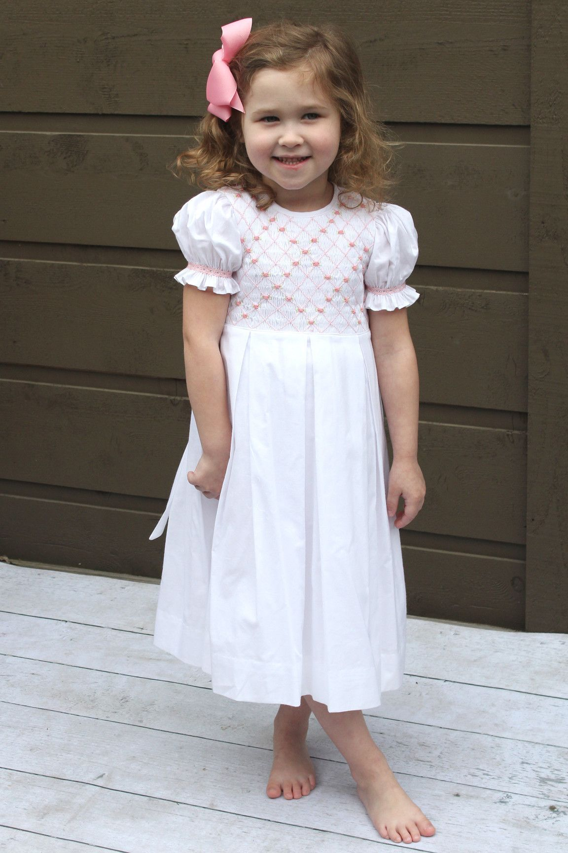 98a61b6d2 Darling in this Smocked Easter Dress by Strasburg Children! #easter  #strasburgchildren