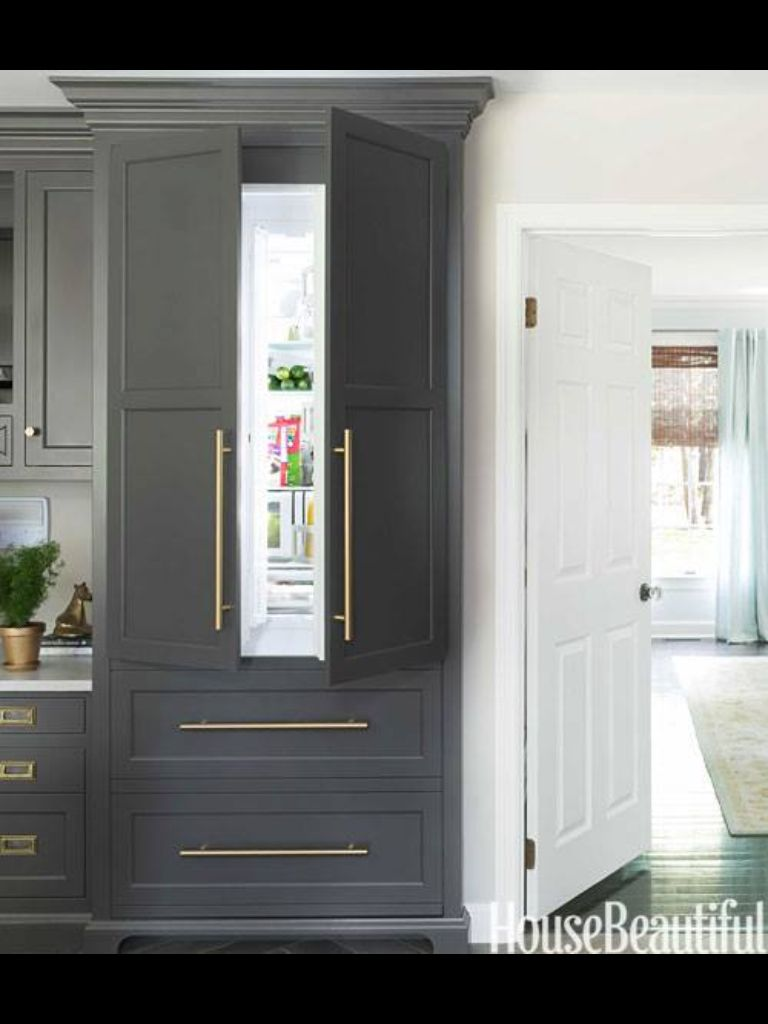 Beautiful Cab Color Bm Silhouette Natura Classic White Kitchen Gray And White Kitchen Built In Refrigerator