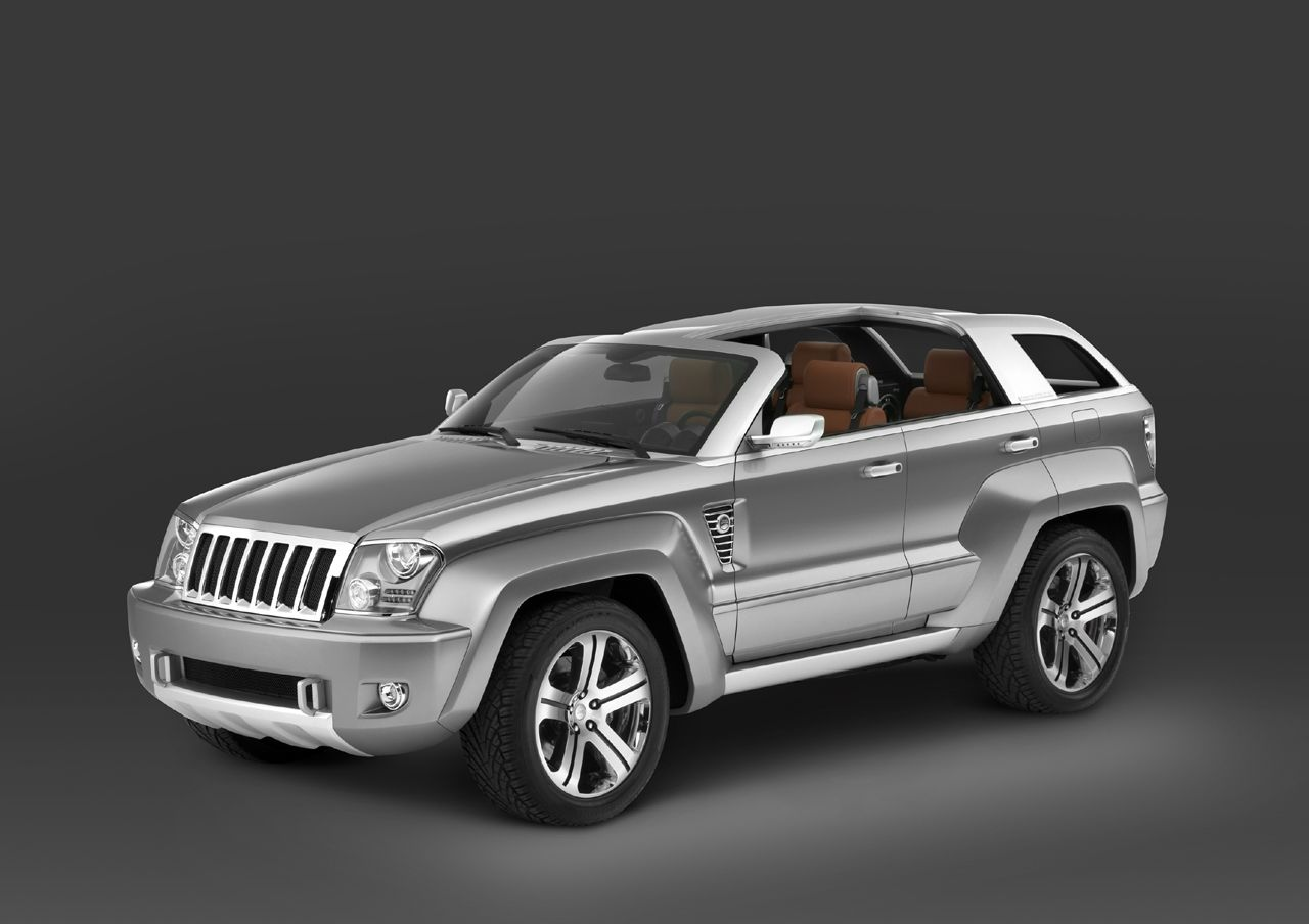 Its sort of a jeep grand cherokee concept with a t top