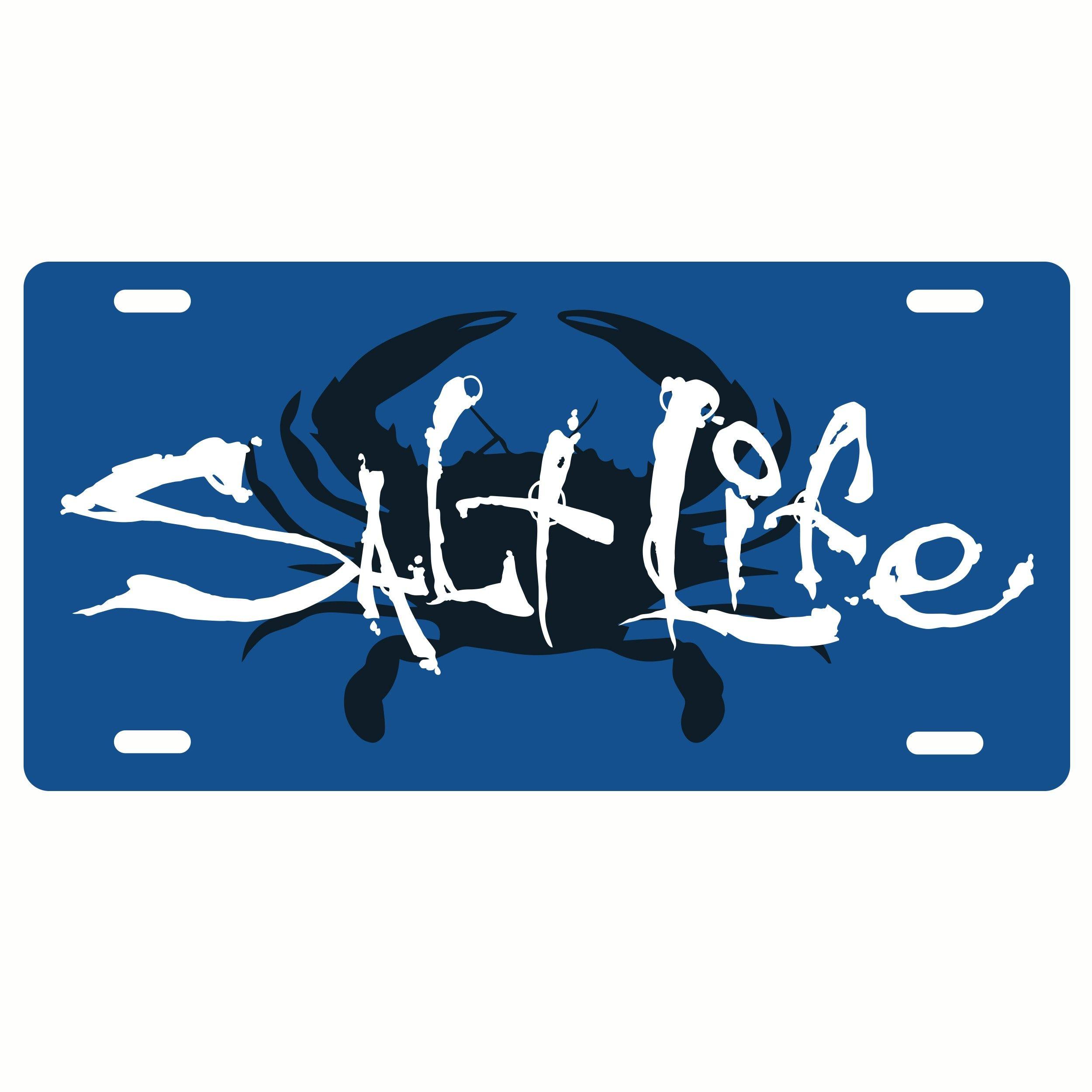 Salt Life Salty Crab License Plate Salt Life Fishing Outfits Life [ 2500 x 2500 Pixel ]