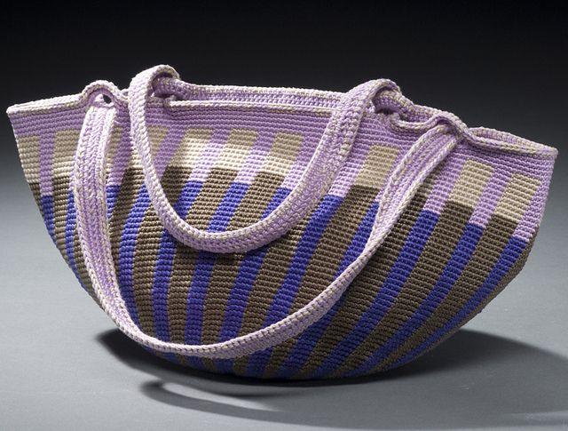 Tapestry Crochet Fat Bottom Bag Pattern By Carol Ventura Knit On