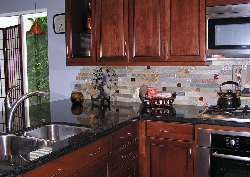 Which back splash with this or one of your own ideas granite laminate home interior design - Design your own backsplash ...