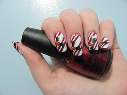 Airbrush nail designs candy cane nails by kayla shevonne airbrush nail designs candy cane nails by kayla shevonne christmas nail art candy prinsesfo Choice Image