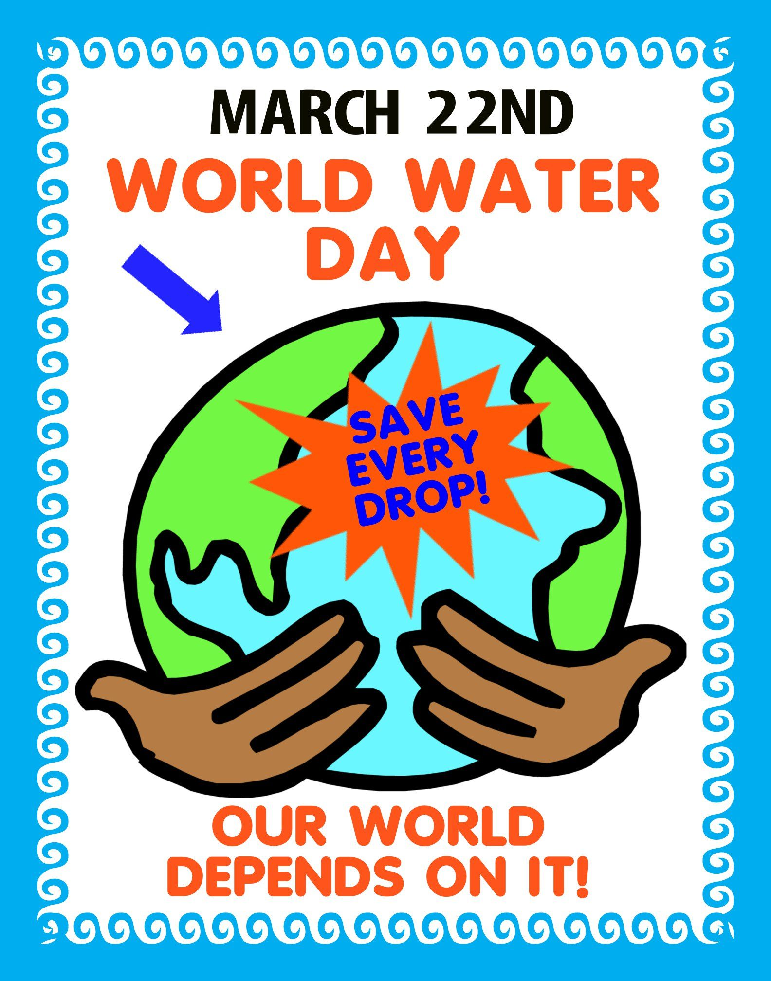 Make A World Water Day Poster Environmental Awareness Poster