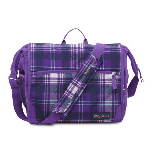 JanSport Elefunk Printed Backpack, Purple Night Preston Plaid ...