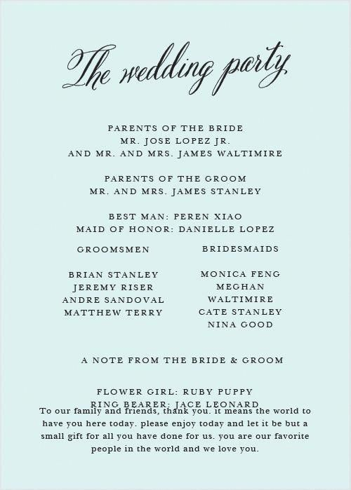 Romantic Calligraphy Wedding Programs -   19 ressional wedding Songs ideas