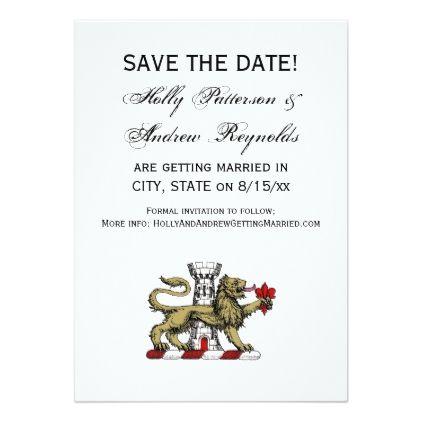 Lion Tower Fleur de Lis Crest Emblem C Card - formal speacial diy - formal invitation style