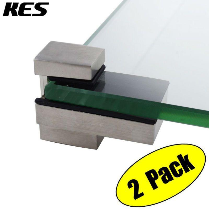 KES HSB303A-2-P2 Solid Metal Adjustable Wood/Glass Shelf Bracket ...