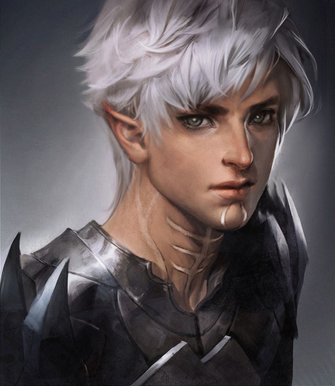 Fenris Picture 2d Fan Art Male Portrait Elf Fantasy