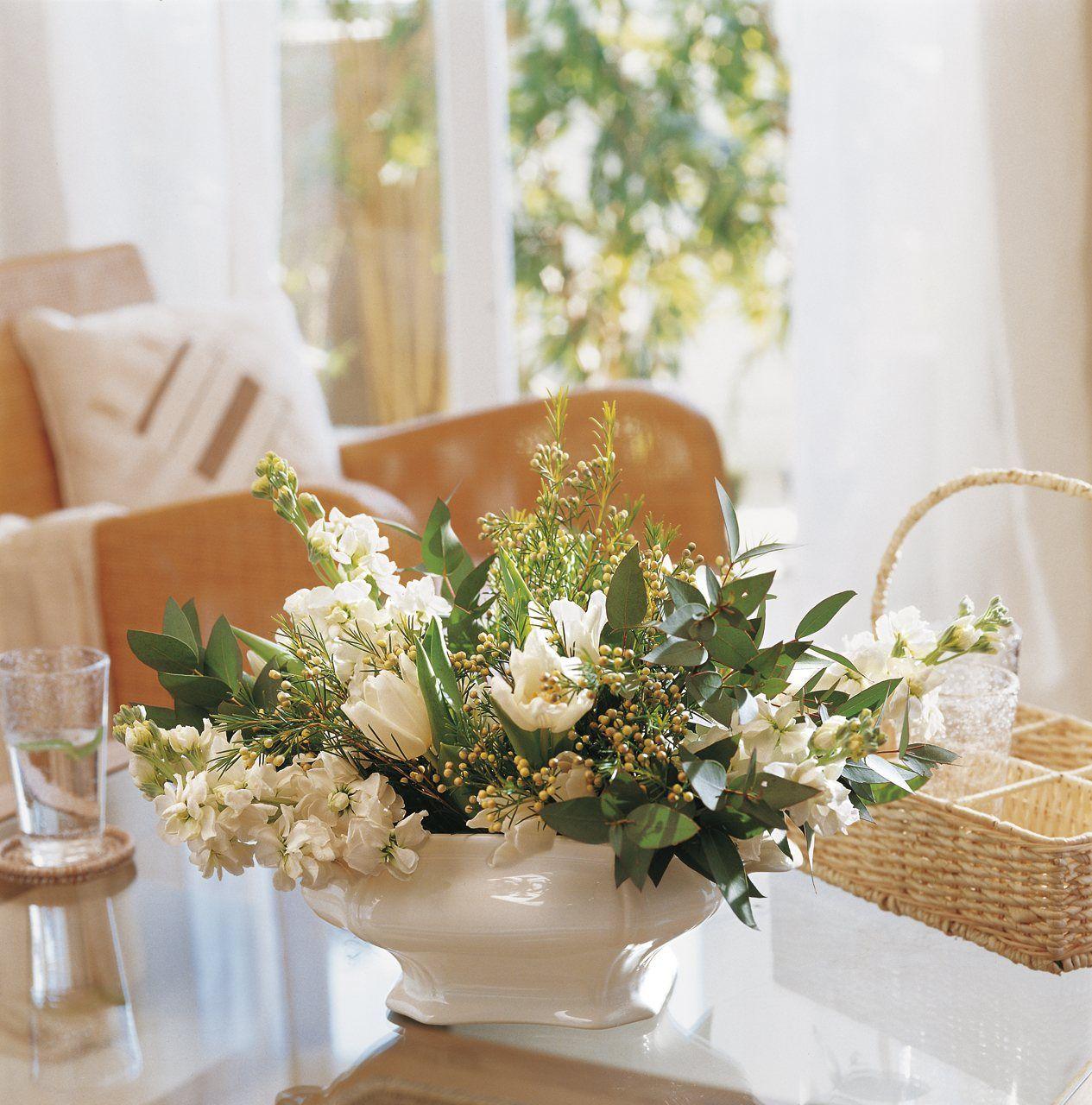 Recipientes originales para tus ramos soperas flores - Centros florales navidenos ...