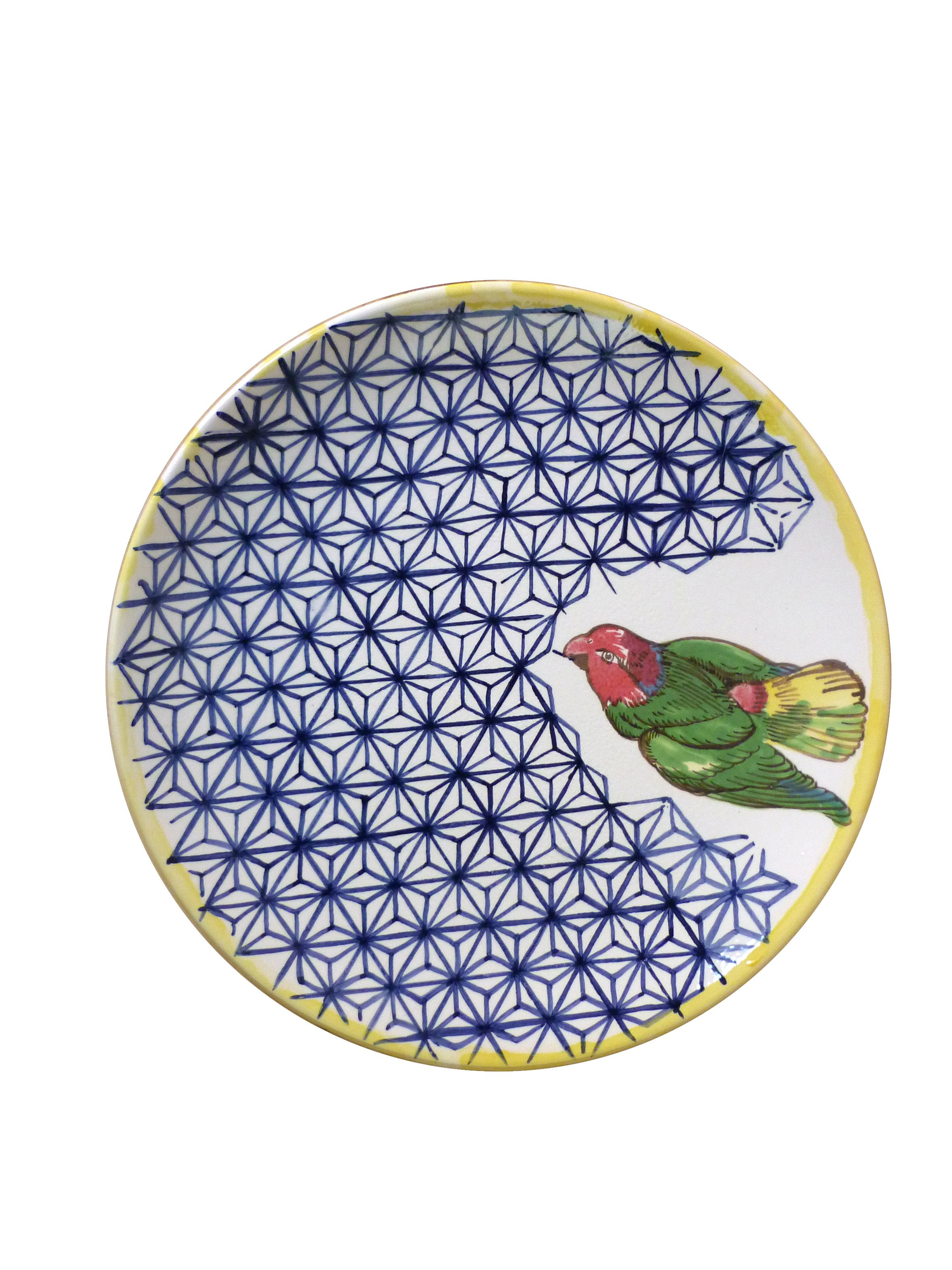 handpainted ceramic plate