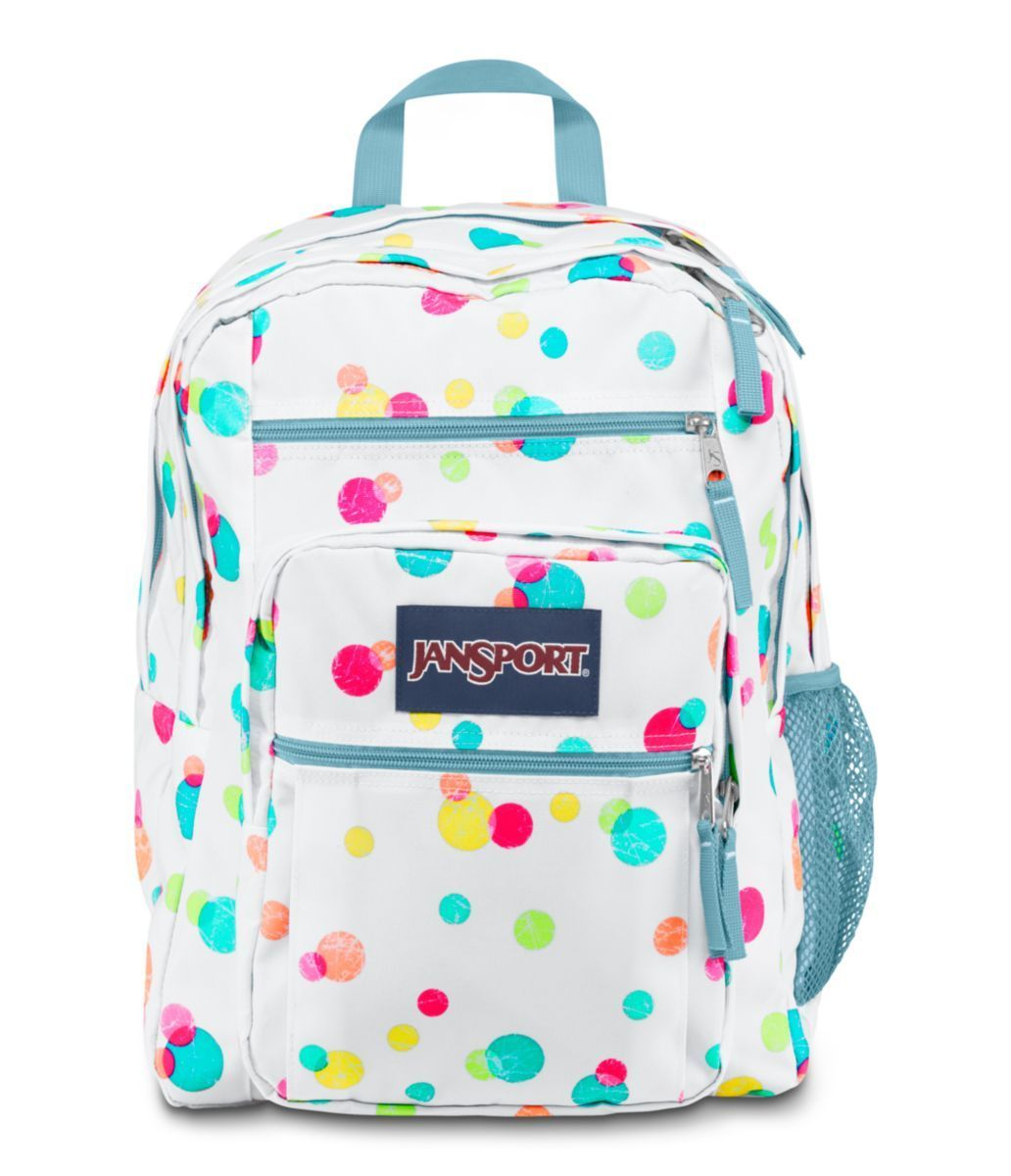 JANSPORT BIG STUDENT BACKPACK SCHOOL BAG - Pink Pansy Confetti ...