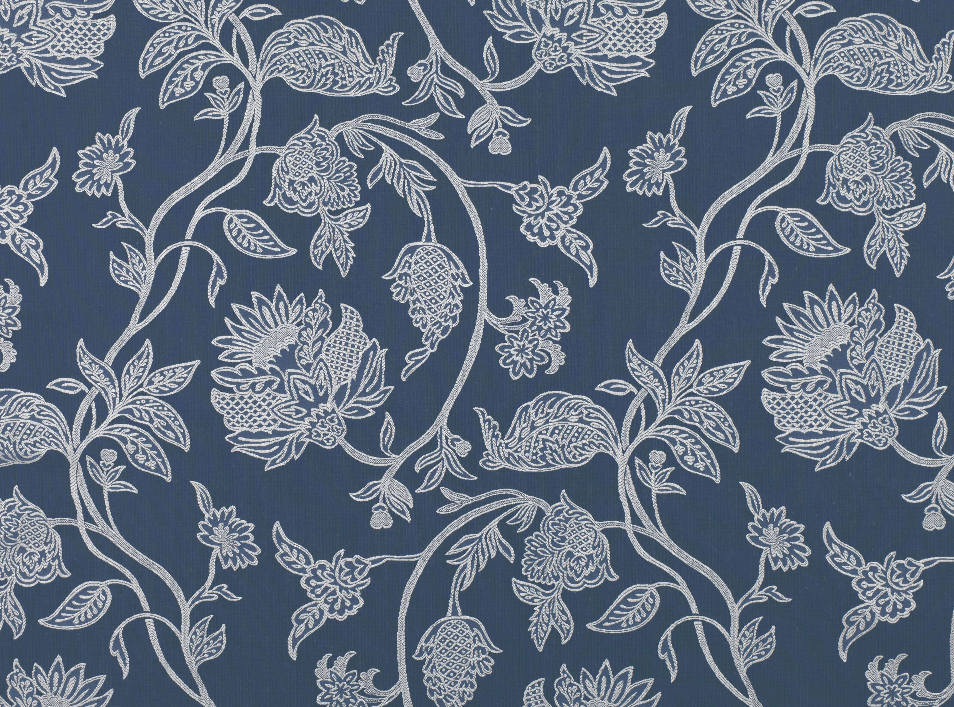 A Stylised Jacquard Floral Finely Woven To Give An