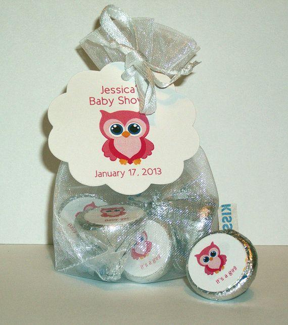 Baby Shower Favor Kit For Hershey S Kisses Kiss4 Girl Owl