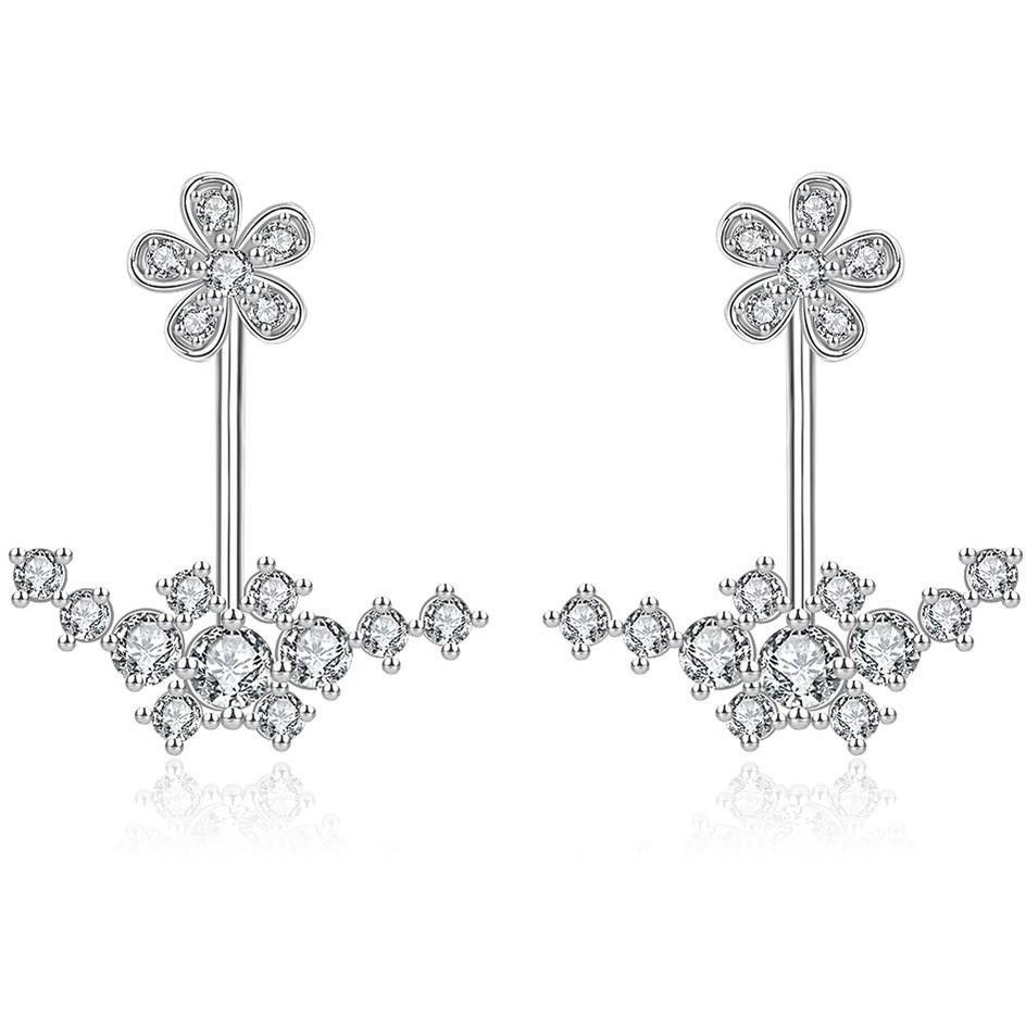 Classy White Gold Plated Earings