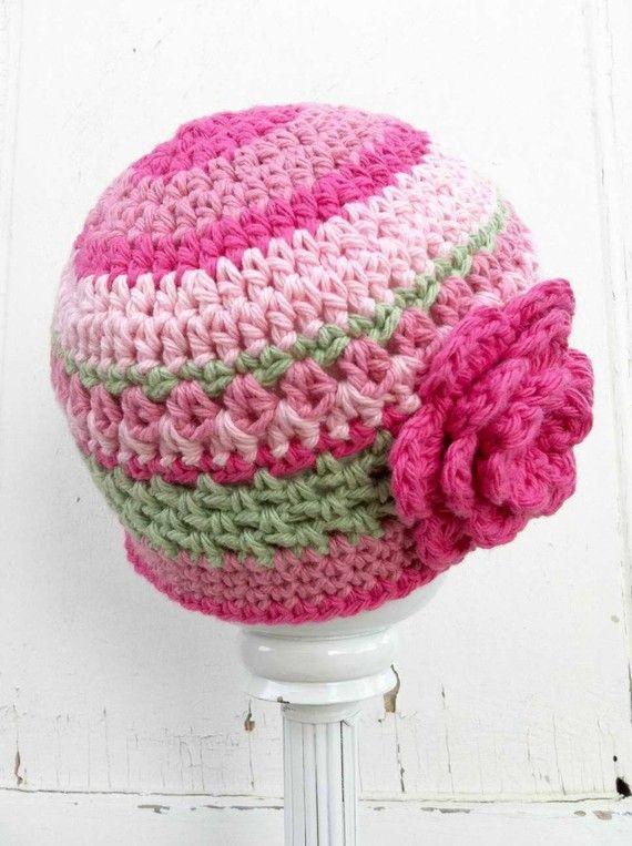 Crochet Hat Pattern Pretty In Pink Beanie By Bubnutpatterns Hats