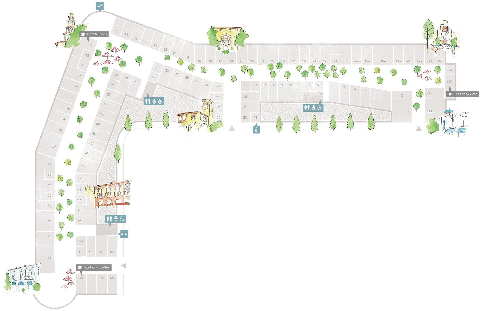 Plano De Village Las Rozas Village Lugares Para Visitar  # Muebles Las Rozas Village
