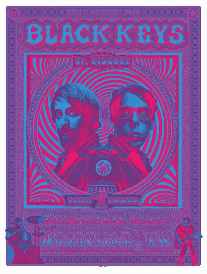 Emek-Black-Keys-Nashville-Poster-Blue