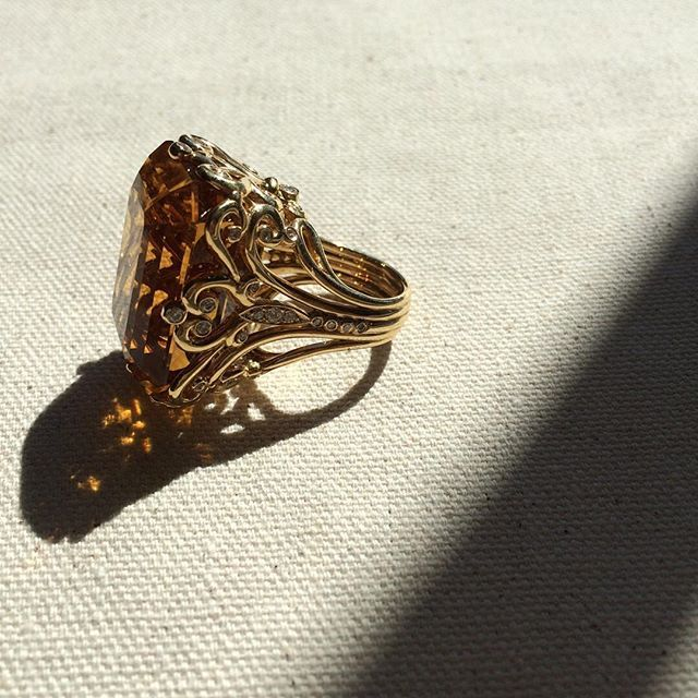 Take another little piece of my heart now, baby  there's no love like citrine ring love by Ricardo Basta