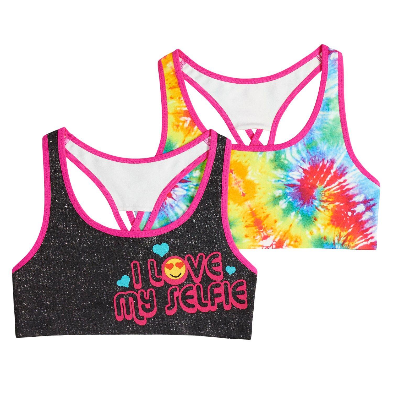 b58e43792bcf1 Girls 7-16 Mush 2-pack Selfie Tie-Dye Seamless Racerback Sports Bras ...