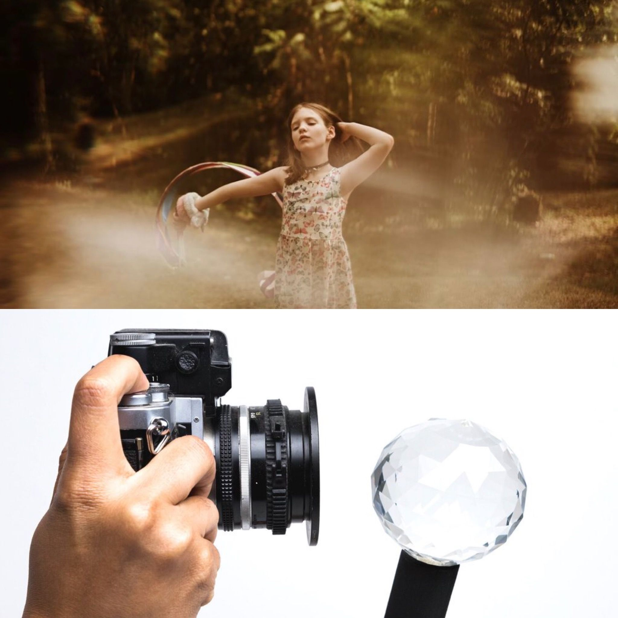 Refract the light to fit your photoshoot aesthetic #prismlensfx #orbprism #jawdroppingshots #photographysouls #justgoshoot #cinematography #mastershots