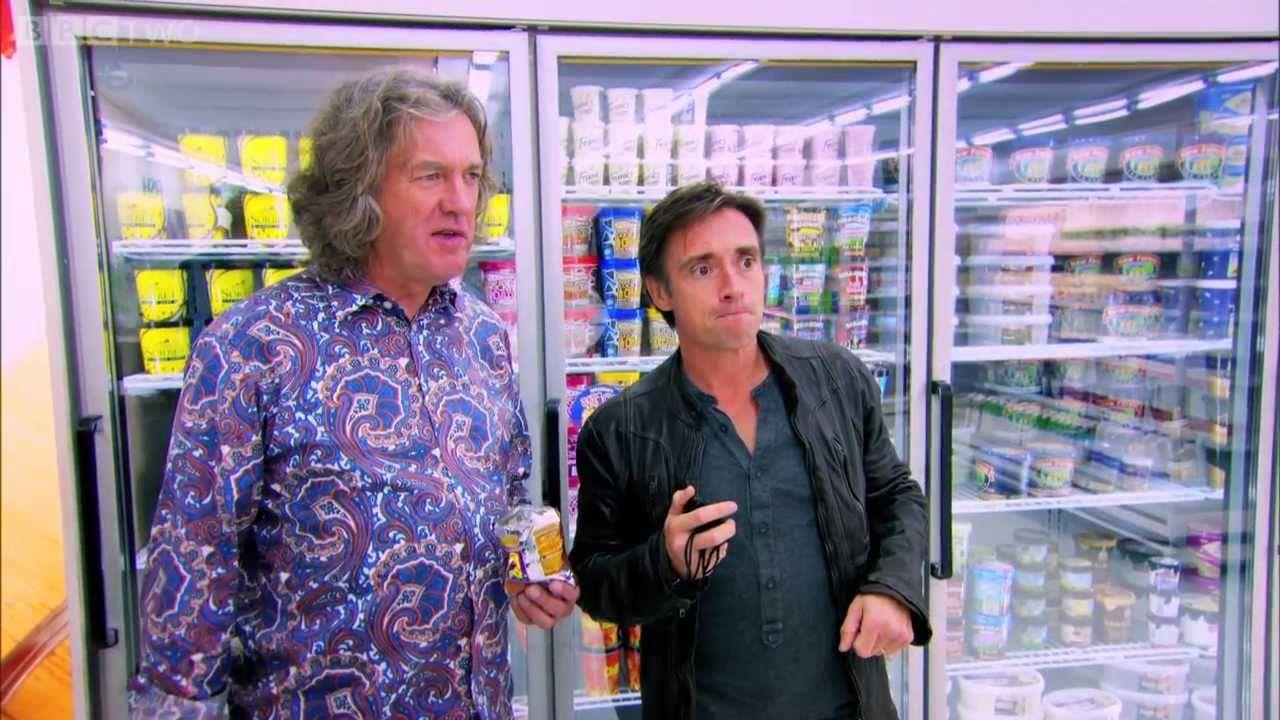 Richard Hammond And Team Play Supermarket Sweep In Hatchbacks Top Gear Top Gear Top Gear Uk Top Gear Bbc
