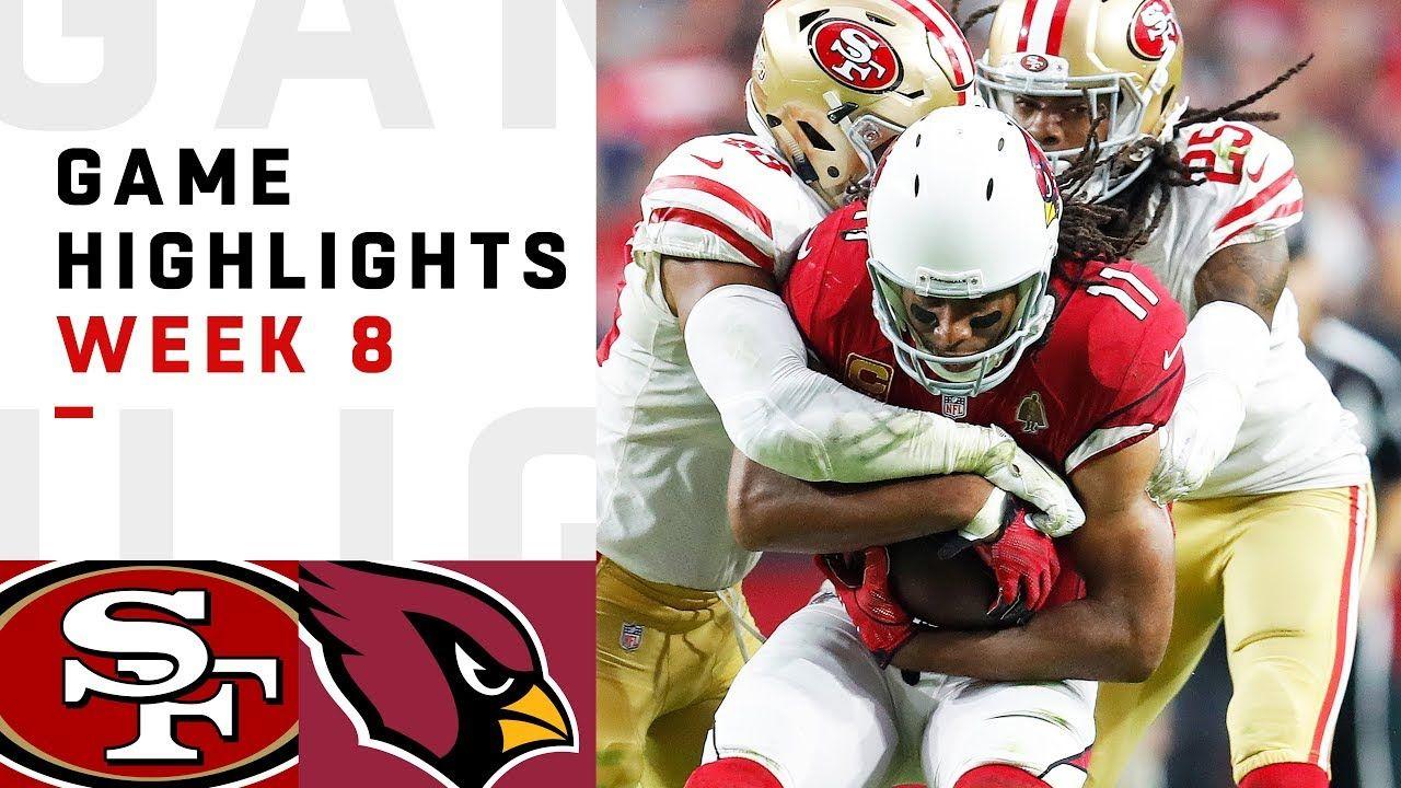 49ers Vs Cardinals Week 8 Highlights Nfl 2018