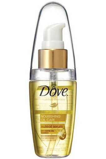 Dove Nutri-Oil Serum.  Just as good if not better than Moroccan Oil at a fraction of the price. Absorbs quickly into damp hair and doesn't leave it greasy. Mild, pleasant fragrance as well.