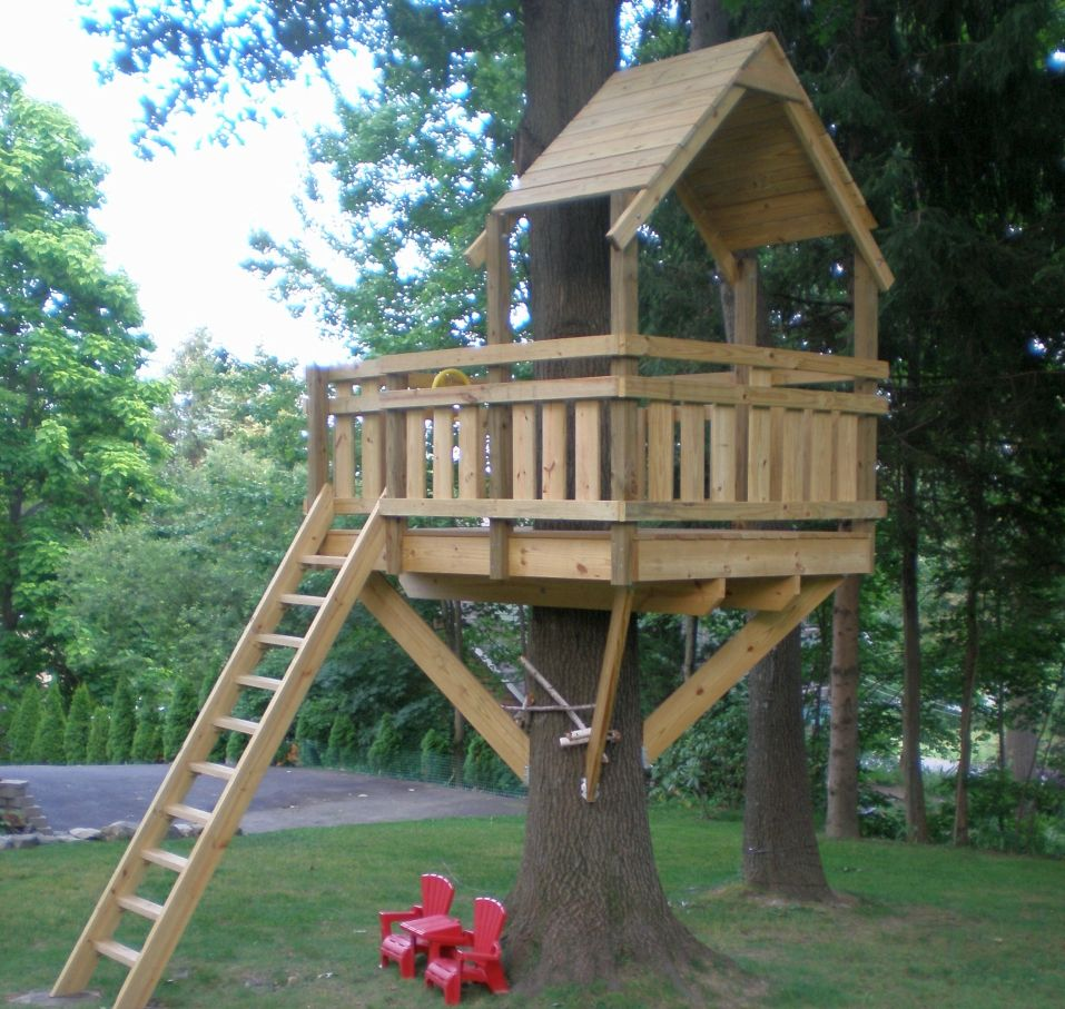 be a superdad to your kids by building them a splendid treehouse