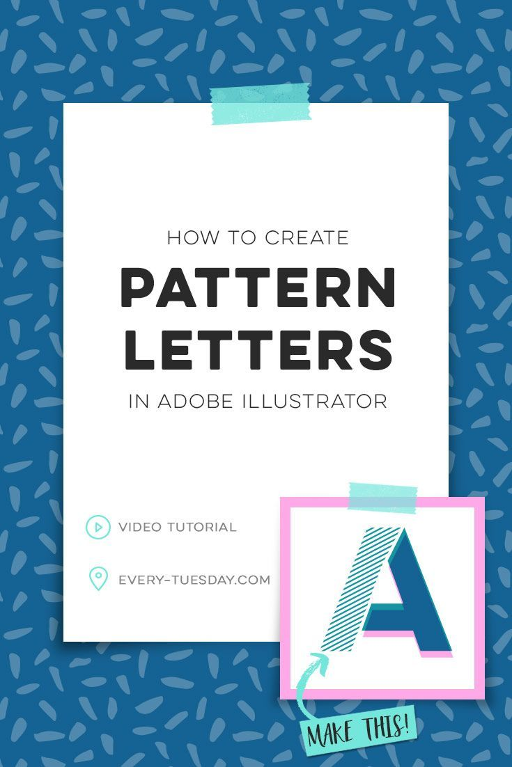 How To Create Pattern Letters In Adobe Illustrator Lettering