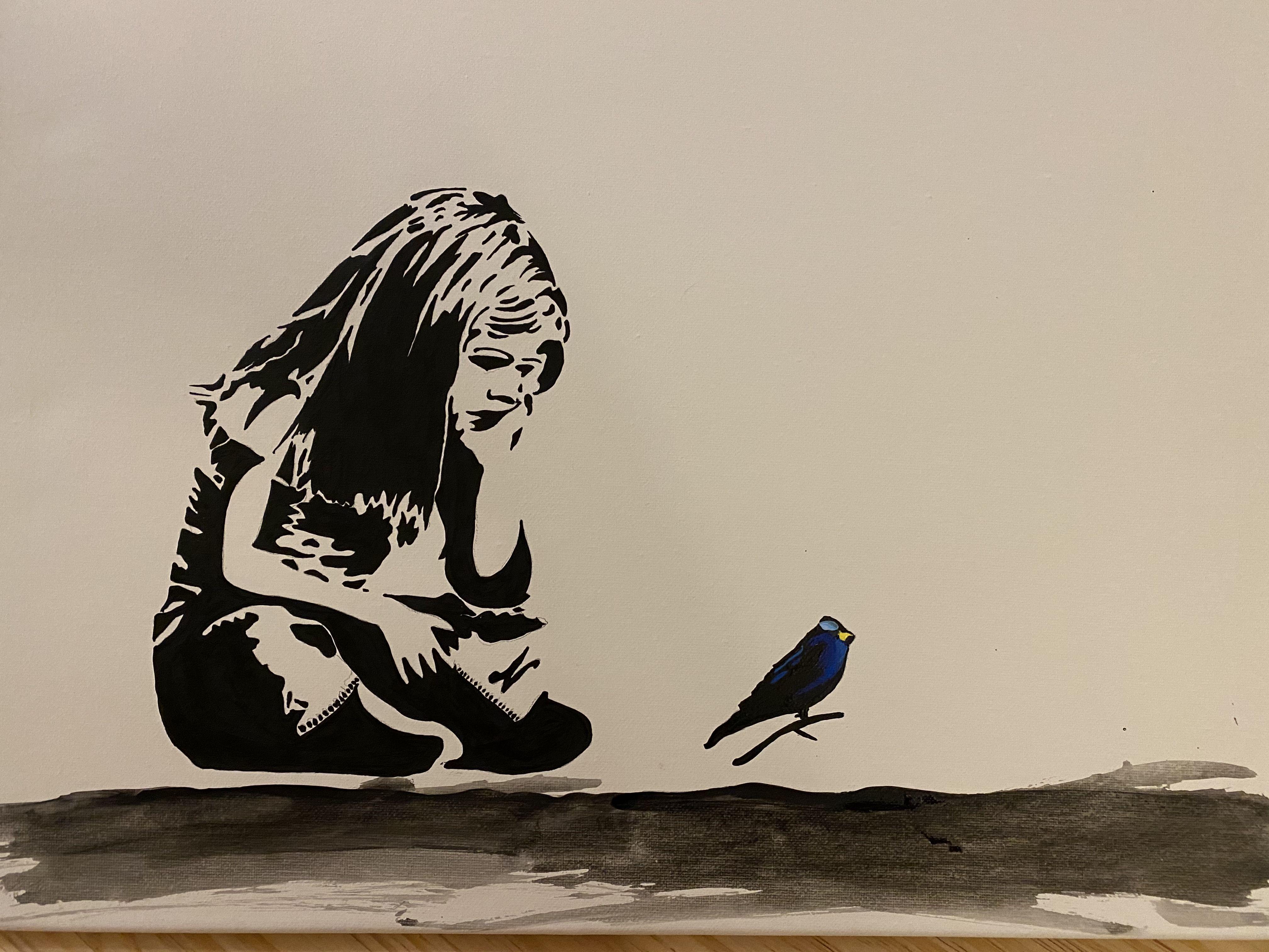 #diy #banksy #banksyart #wohnen #athome #dekoration #deko #doityourself #painting #art