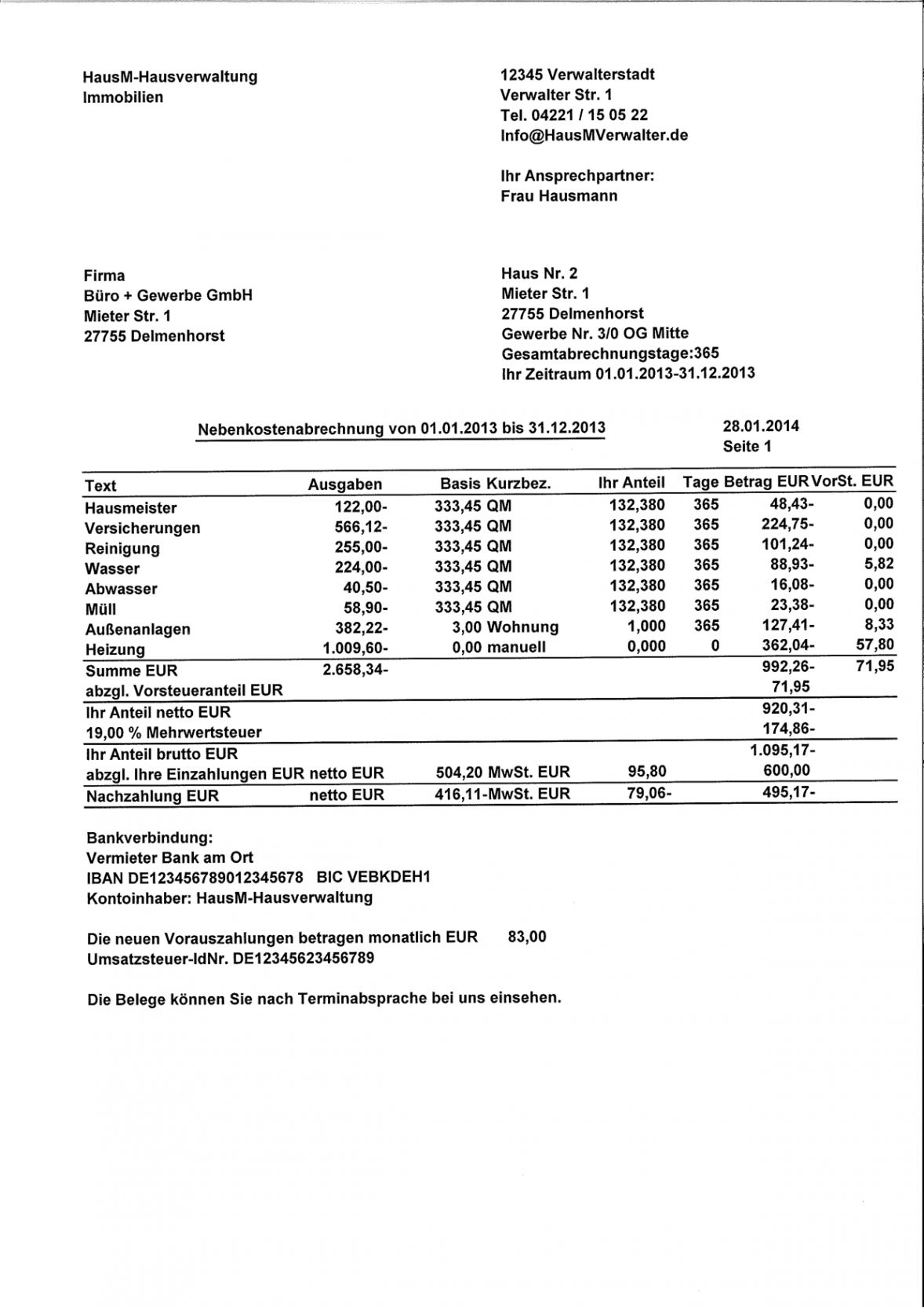 Durchsuche Unsere Kostenlos Von Rechnung An Vermieter Vorlage In 2020 Vorlagen Word Nebenkostenabrechnung Briefvorlagen