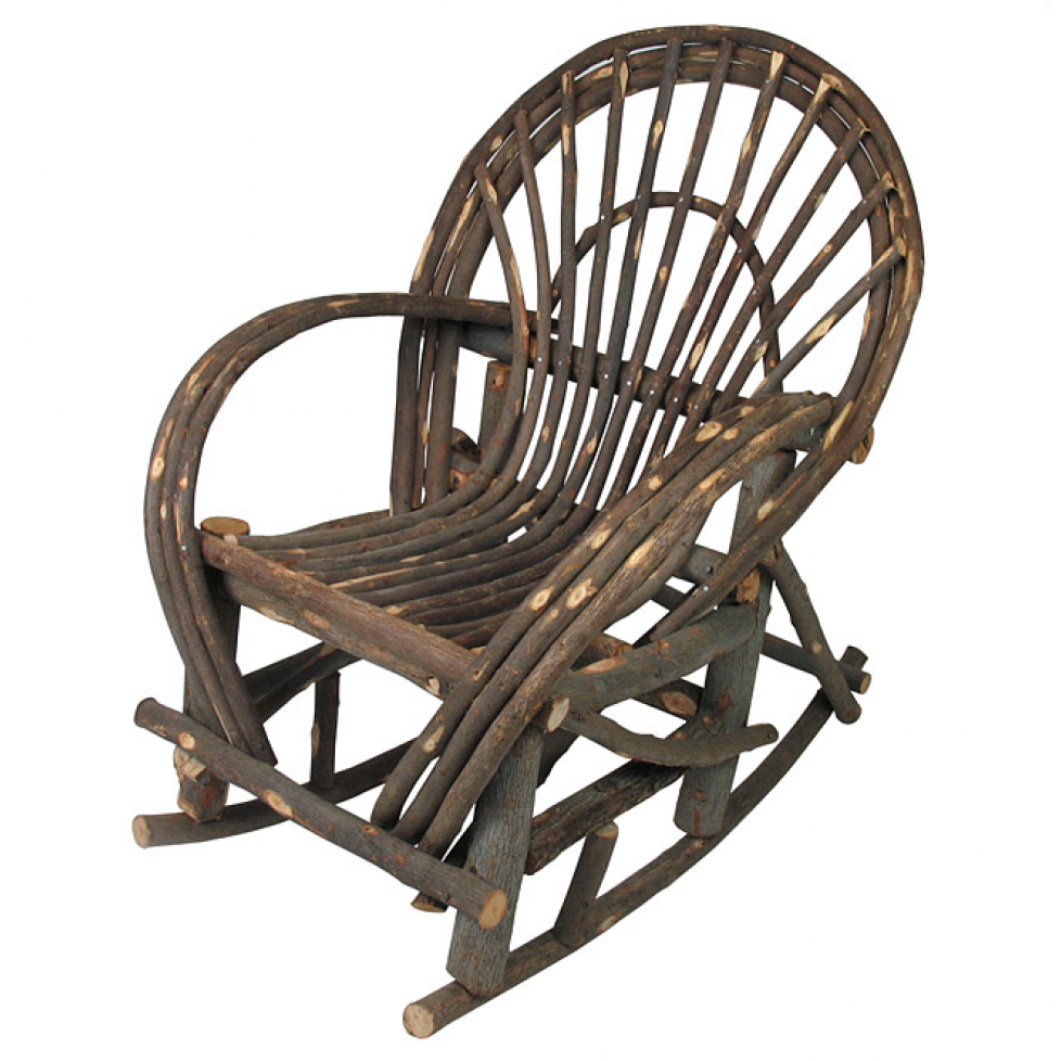 Superior Rustic Twig Rocking Chair