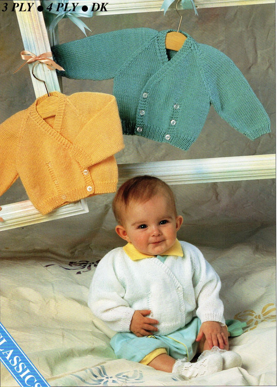 94dc3afc9ef5 baby knitting pattern pdf baby crossover cardigan knitting pattern ...