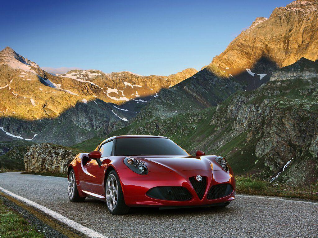 Red Outdoor Sports Supercar Alfa Romeo 4c Wallpaper Alfa