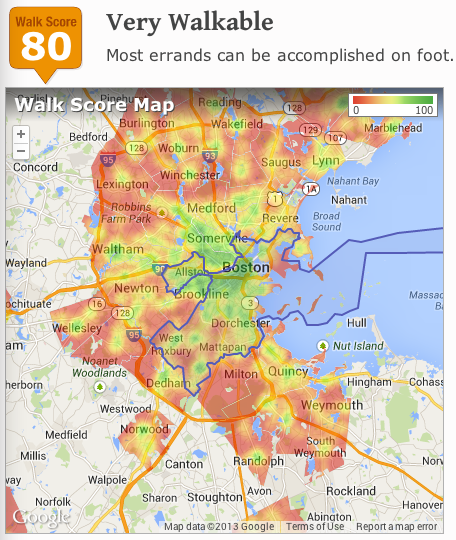 Check Out Boston's Most Walkable Neighborhoods