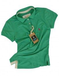 Camisa Polo Feminina Verde Esmeralda