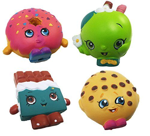 Squishy Foam Toys : Shopkins Squishy Foam Stress Balls Complete Set of 4 Toys Shopkins http://www.amazon.com/dp ...