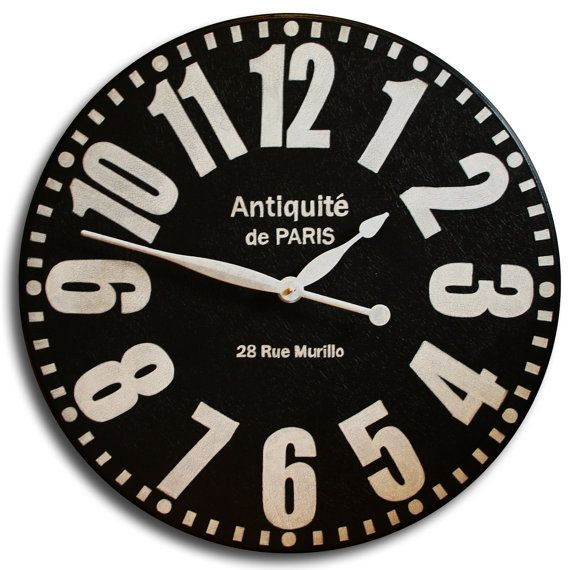 Large Wall Clock 30in Antique Style Bold Paris By Jenniferclocks 139 00 Large Wall Clock Oversized Wall Clock Clock