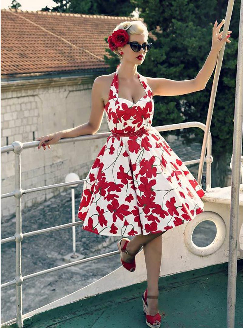 1d70df53a3ee Robe Pin-Up Rockabilly Retro Rock Ange Hell