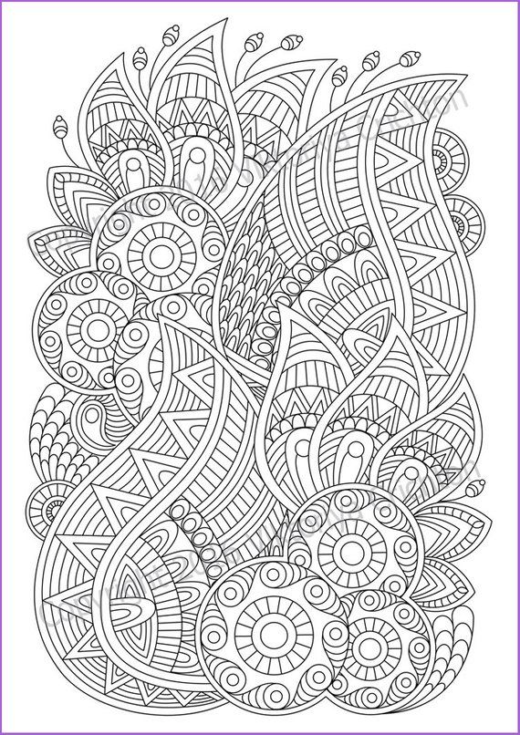Zentangle art Coloring pages for adults, PDF zentangle pattern