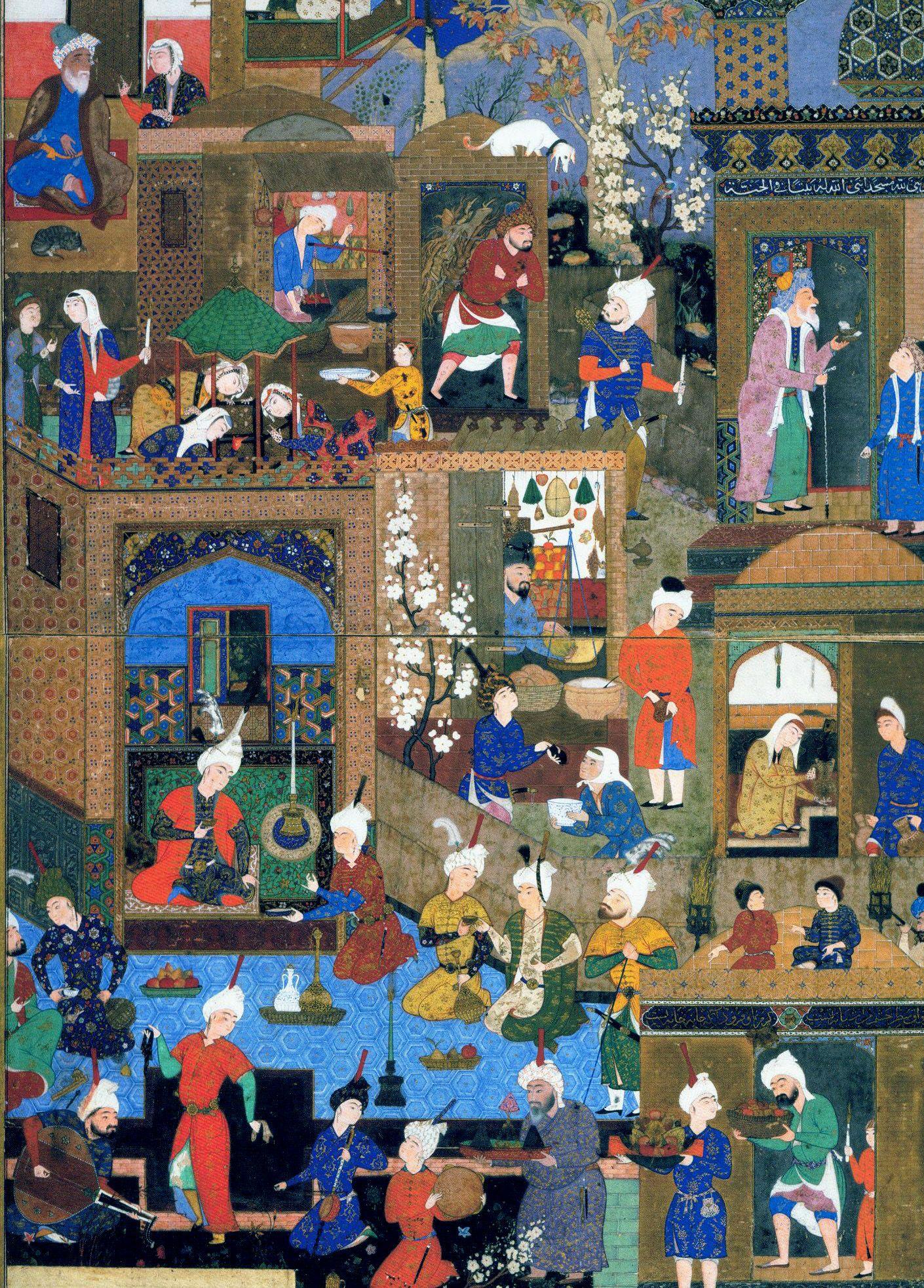 Life in a Town, Nizami's Khamsa, 1539-43