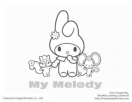 My Melody Pin Copy Print