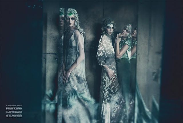 """""""The One And Only Couture"""" in Vogue Italia September by Paolo Roversi"""