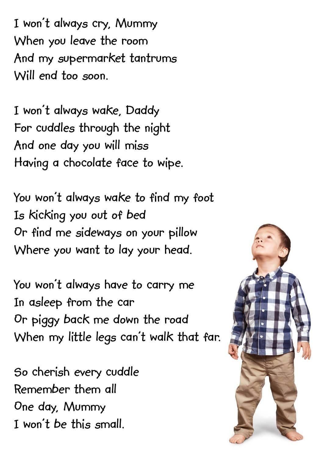 Wont Always Be Small Babies Grow Up Too Fast Quotes Poems
