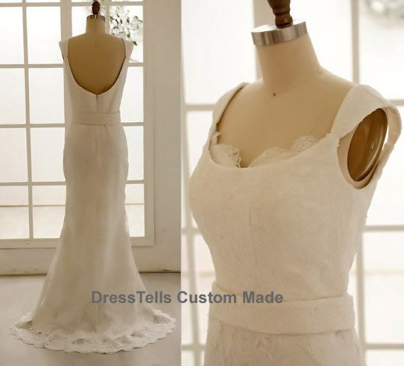 Lace Wedding Dress  white Bridal Gown / Wedding by dresstells, $399.99