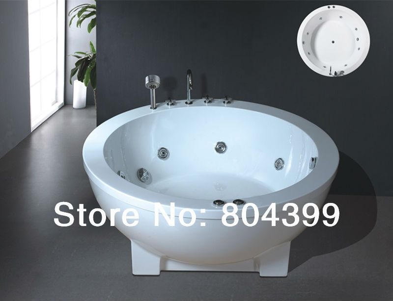 B510 acrylic common bathtub,regular bathtubs Round water jet ...