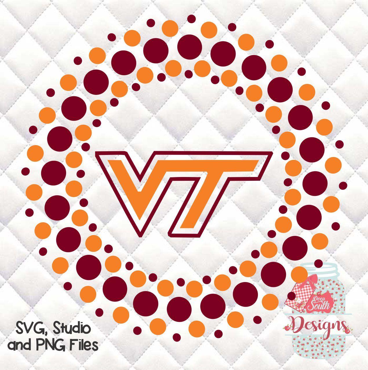 Virginia Tech Hokies Circle Svg Silhouette Studio