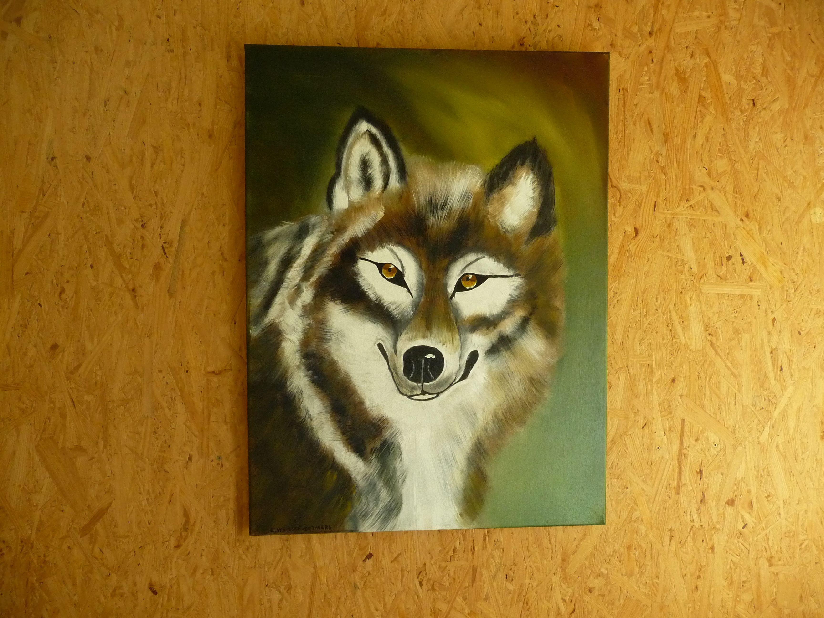 Wolf, gemalt nach Bob Ross   Bleistiftzeichnungen ...