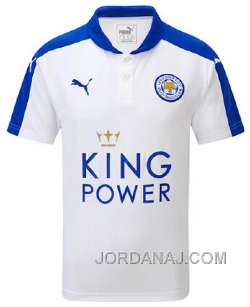 15 16 Leicester City Away White Soccer Jersey Shirt Soccer Jersey Leicester City Jersey Shirt